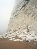 Rock Fall At Chalk Cliffs Photographic Print by Michael Marten