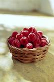 Raspberries Photographic Print by David Munns