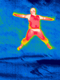 Man Jumping, Thermogram Photographic Print by Tony McConnell