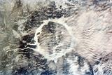 Manicouagan Reservoir Print by  NASA