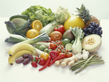 Fruits And Vegetables Photographic Print by David Munns