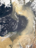 Dust Plume Crossing the Mediterranean Photographic Print by  NASA