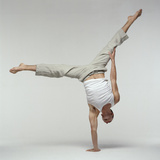 Yoga Pose Premium Photographic Print by Tony McConnell