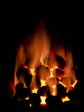 Fire of Smokeless Fuel Photographic Print by Cordelia Molloy