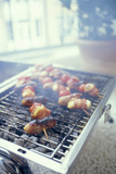 Barbecuing Meat Photographic Print by David Munns