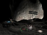 Asteroid Mining Settlement, Artwork Photographic Print by Walter Myers