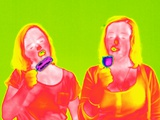 Women Eating Ice Lollies, Thermogram Posters by Tony McConnell