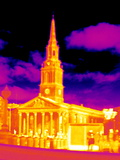 St-Martin-in-the-Fields, Thermogram Posters by Tony McConnell