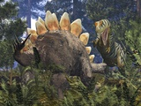 Jurassic Dinosaurs, Artwork Premium Photographic Print by Walter Myers