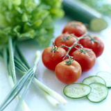 Salad Vegetables Photographic Print by David Munns