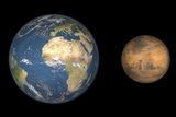Mars And Earth Compared, Artwork Photographic Print by Walter Myers