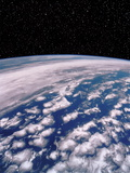 Earth with Starfield Premium Photographic Print