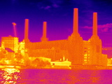Battersea Power Station, Thermogram Prints by Tony McConnell