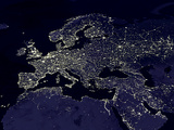 Europe At Night, Satellite Image Lámina fotográfica por  NASA