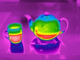 Teapot And Mug, Thermogram Photographic Print by Tony McConnell
