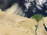 Sandstorm, Satellite Image Photographic Print by  NASA