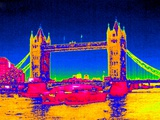 Tower Bridge, UK, Thermogram Photographic Print by Tony McConnell