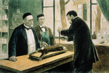 Pasteur Supervising Inoculation of Rabies Vaccine Photographic Print by National Library of Medicine