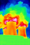 Cooling Towers, Thermogram Photographic Print by Tony McConnell