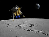 Moon Lander, Artwork Photographic Print by Walter Myers