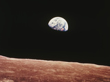 Earthrise As Seen From Above Surface of the Moon Photographic Print