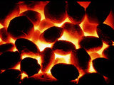 Glowing Fire of Smokeless Fuel Photographic Print by Cordelia Molloy