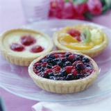Fruit Tarts Photographic Print by David Munns