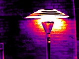 Patio Heater, Thermogram Photographic Print by Tony McConnell