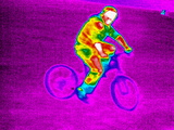 Cycling, Thermogram Poster van Tony McConnell