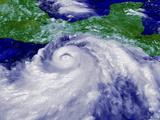 Coloured Satellite Image of Hurricane Pauline Photo by  NASA