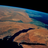 Sinai And Egypt Seen From Space Shuttle STS-69 Photographic Print by  NASA