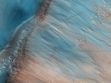 Gullies on Mars Photographic Print