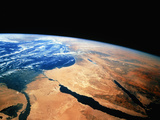 Nile Delta & Sinai Peninsula As Seen From Shuttle Photographic Print by  NASA
