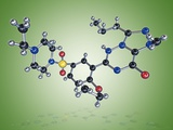 Levitra Drug Molecule Photo by Miriam Maslo