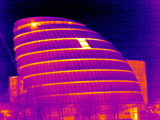 London Assembly Building, UK, Thermogram Photographic Print by Tony McConnell
