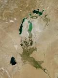 Aral Sea, Satellite Image, 2010 Photographic Print
