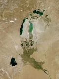 Aral Sea, Satellite Image, 2010 Photographic Print by  NASA