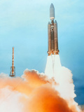 Launch of a Titan IV Rocket Photographic Print by Lockheed Martin