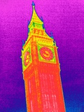 Big Ben, UK, Thermogram Prints by Tony McConnell