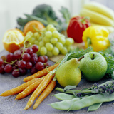 Fruits And Vegetables Premium Photographic Print by David Munns