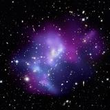 Galaxy Cluster MACS J0717 Photographic Print