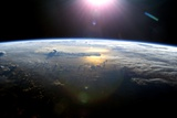 Pacific Ocean From Space, ISS Image Papier Photo
