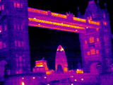 Tower Bridge, London, UK, Thermogram Premium Photographic Print by Tony McConnell