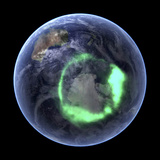 Aurora Over Antarctica, Satellite Image Photographic Print