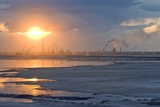 Oil Refinery Near Sunset Photographic Print by David Nunuk