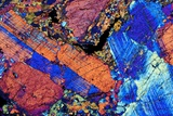 Granite, Thin Section, Polarised LM Photographic Print by  PASIEKA