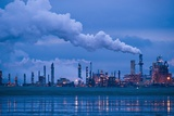 Oil Refinery At Dusk Prints by David Nunuk