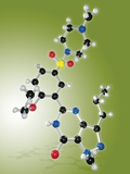 Viagra Drug Molecule Fotografisk tryk af Miriam Maslo