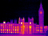 House of Parliament, UK, Thermogram Photo by Tony McConnell