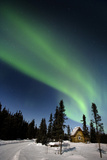 Aurora Borealis In Alaska Photographic Print by Chris Madeley